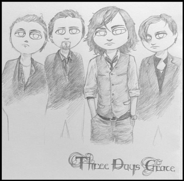 Three Days Grace par Parfois